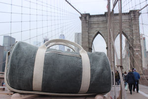 hemp duffle bag in brooklyn bridge