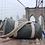 Hemp duffel bag by stemp on display at brooklyn bridge