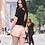 A woman wearing hemp shorts