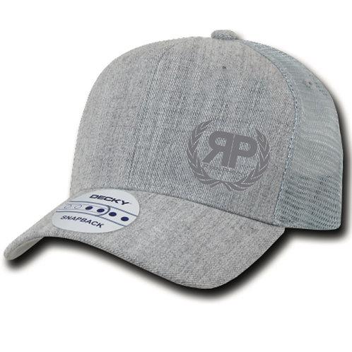 Grey Trucker Hat w/ Grey Logo