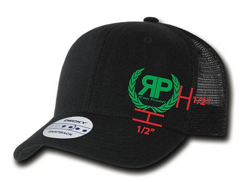 Black Trucker Hat w/ Irish Green logo