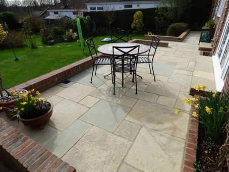 Limestone Patio Installation