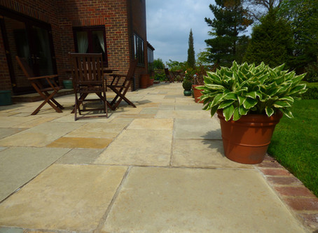 Honey Limestone Patio
