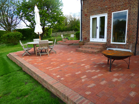 Traditional Clay Paved Patio