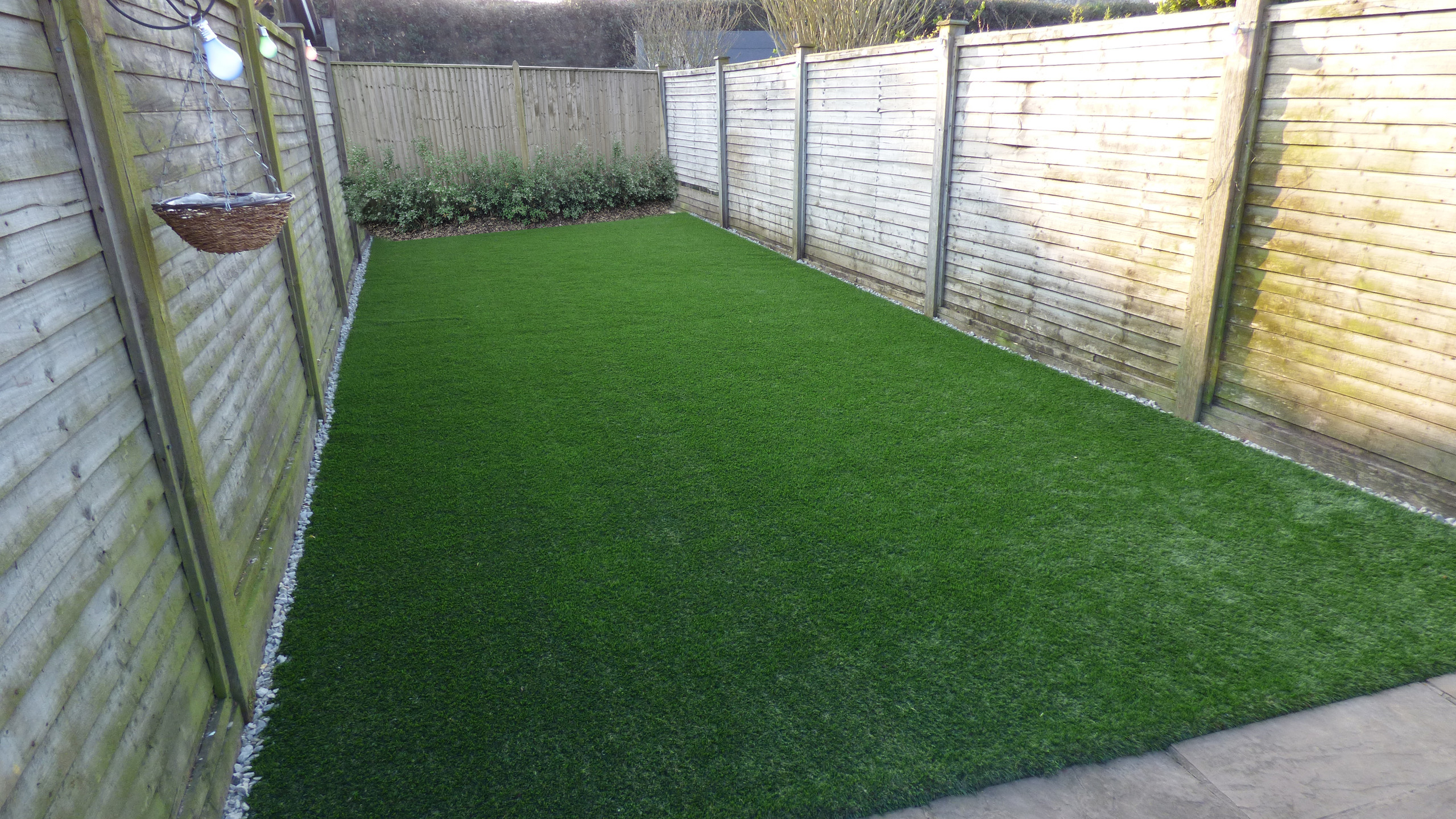 Timeless Artificial Lawn after installation to create pet friendly back garden