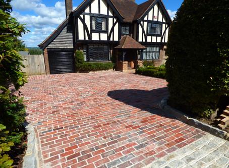 Reclaimed Victorian Brick Driveway