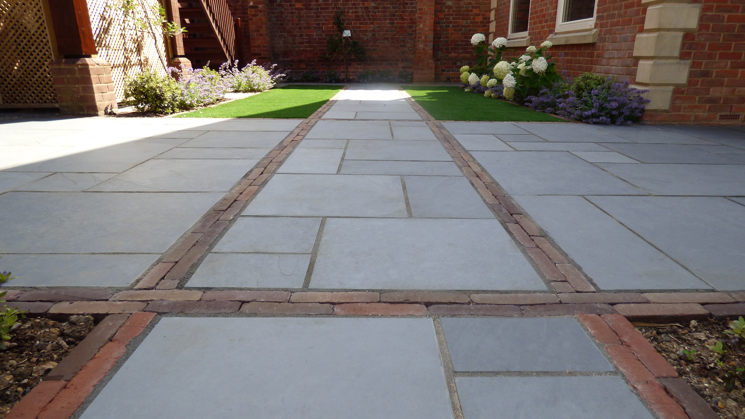 Brett Slate Path with Belgium Clay Paving detail