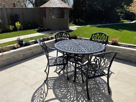 Re-Landscaped Garden with Porcelain Patio