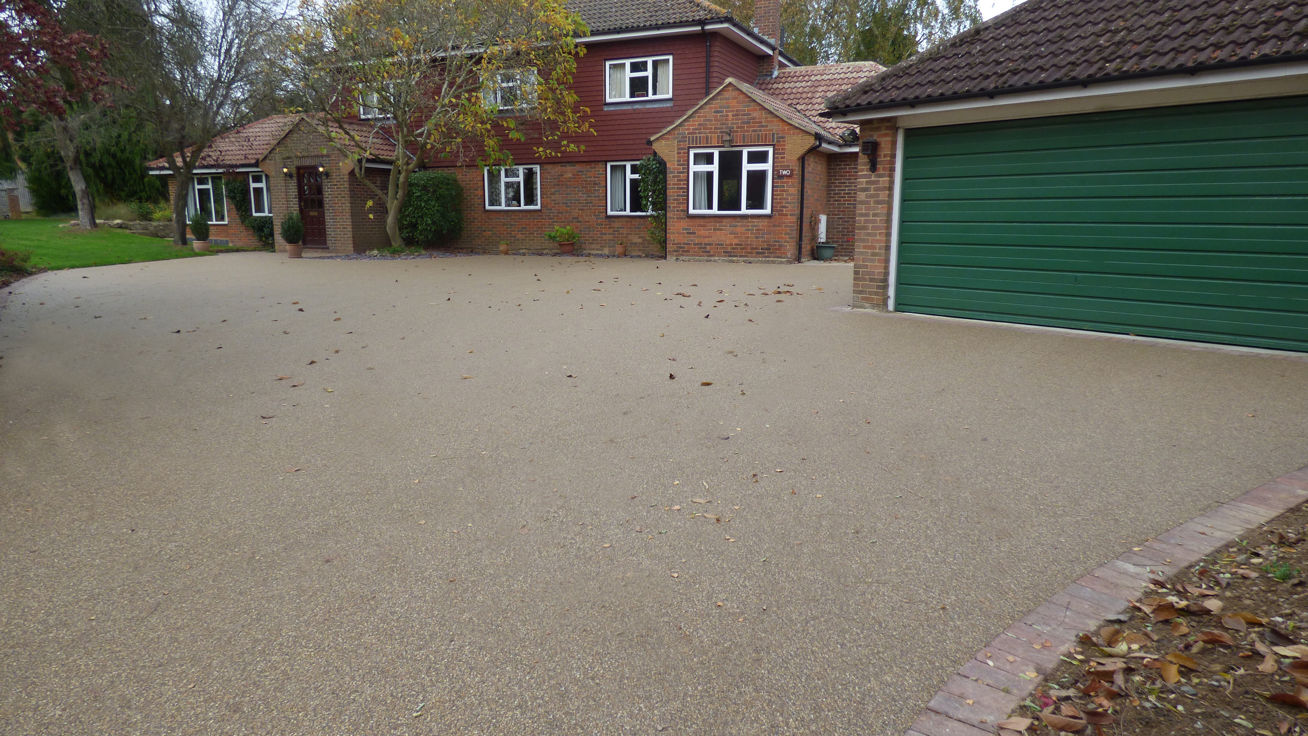 Resin Bound Driveway edged with block paving