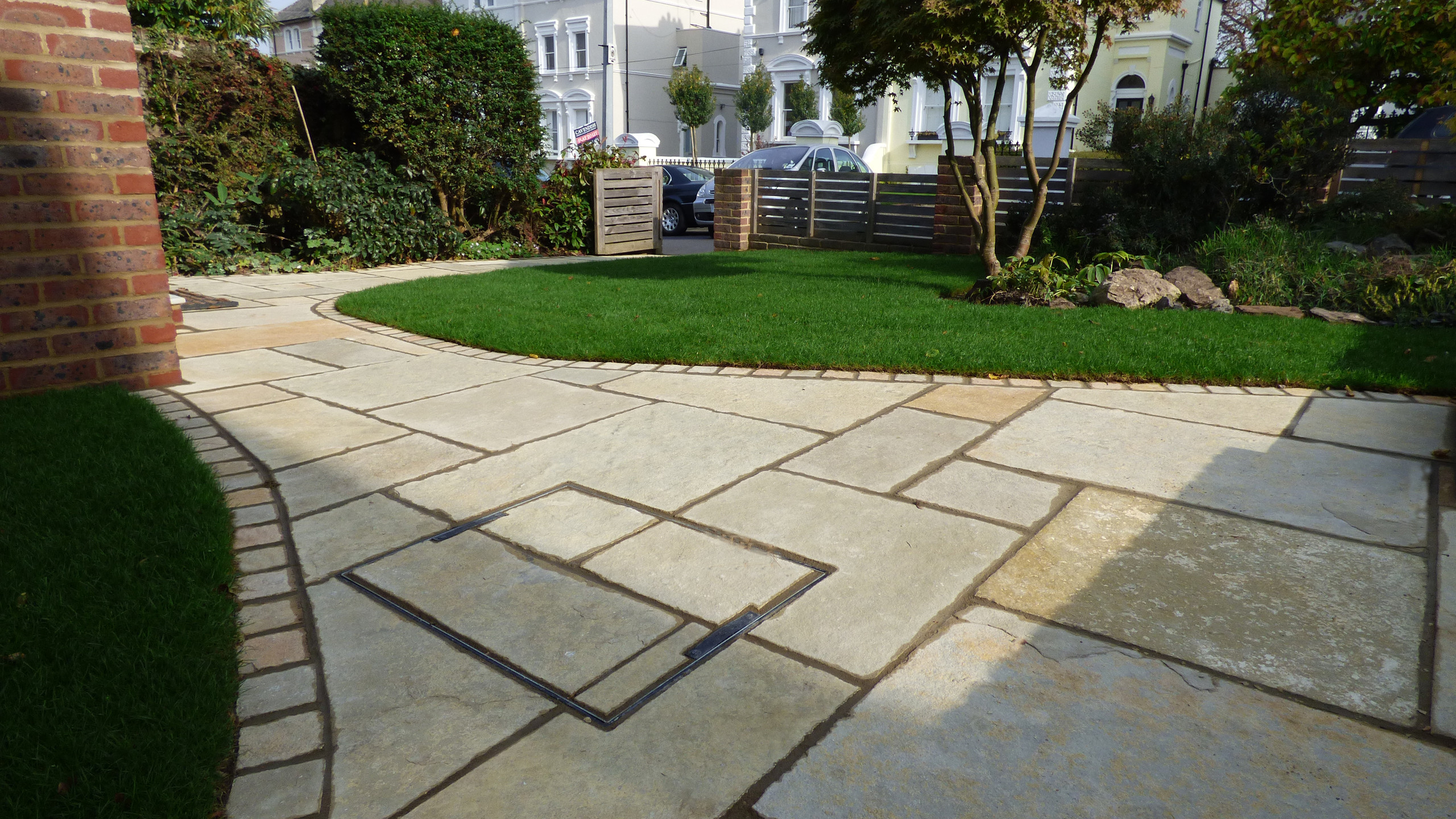 Re-landscaped front garden in Sevenoaks