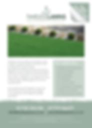 Timeless Lawns Leaflet