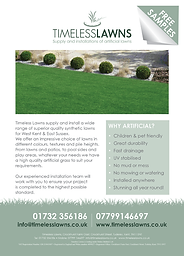 Timeless Lawns Leaflet