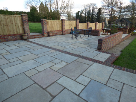 A Large Brett Limestone Patio Installation