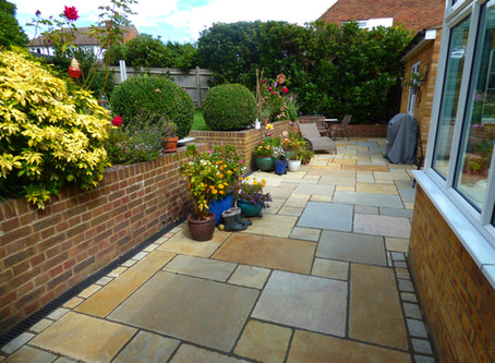 Limestone Patio in Tunbridge Wells