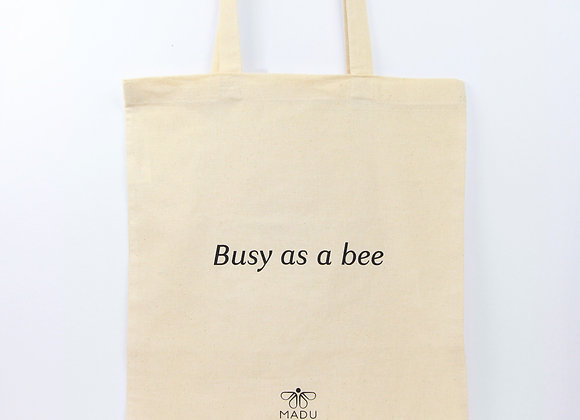 Totebag 'Busy as a bee'