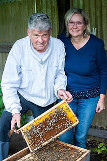 Our beekeepers Henry and Vera