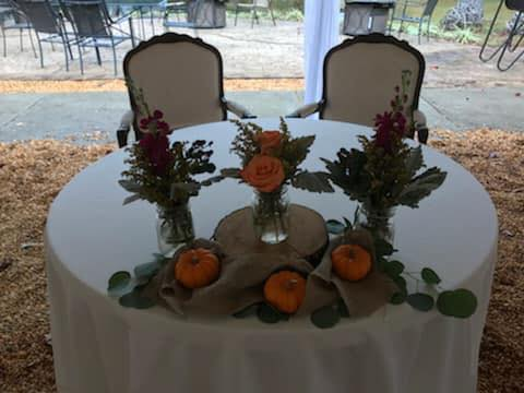 Chairs for sweetheart table