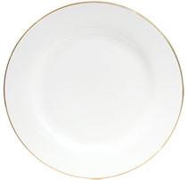 10.5'' Gold Rim Dinner Plate