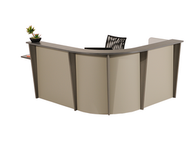 Recetion, reception desk, curve reception desk, lobby desk, lobby table