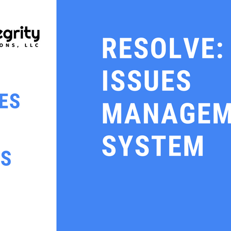 Updates to Resolve: Issues Management System