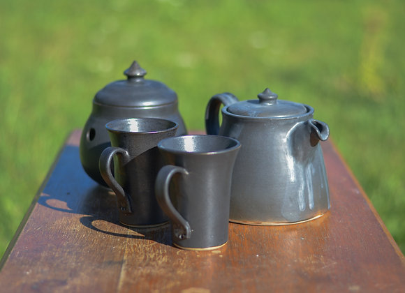Service à thé noir mat