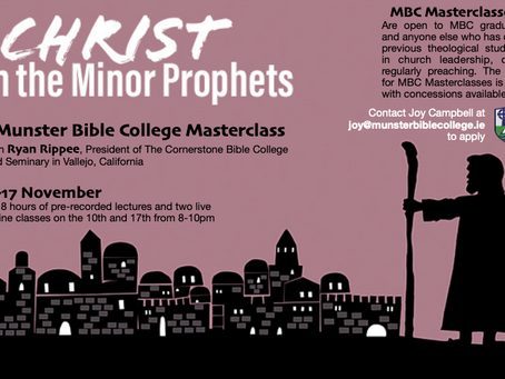 Masterclass on Christ in the Minor Prophets