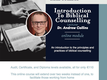 Introduction To Biblical Counselling