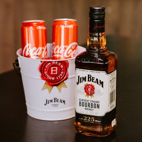 Jim Beam White Label Whisky - Boozy Bundle