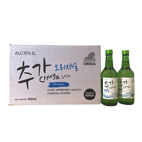 Chuga Original Soju Carton (20 x 360ml)