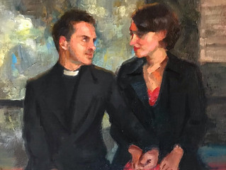 'Fleabag' a painting of the final scene