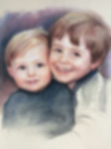 Pastel of young boys