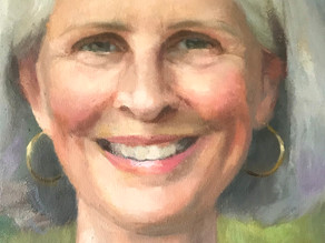 Painting a Smile :) A portrait Commission of a serene lady