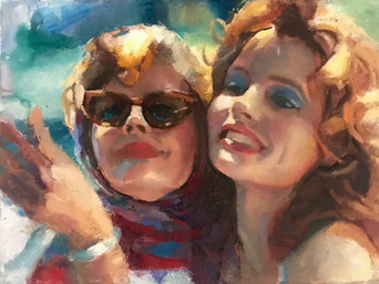 'Selfie'- A painting from the film Thelma & Louise