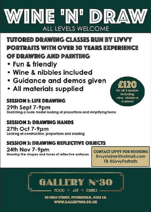 Art classes in Hampshire with Livvyportraits
