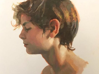 Man-Child: Paintings of  my son at different stages of his life