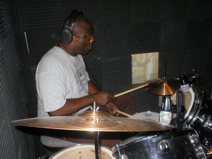 FF Ty laying down a drum track
