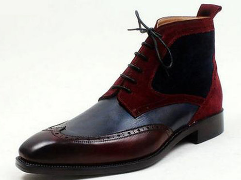 Two Tone Wing Boot BG17