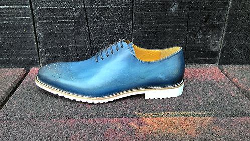 Blue Wholecut Shoe // US 9.5