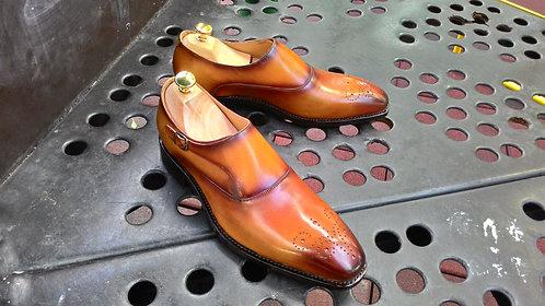 Tan Monk Strap Shoes // EU 42