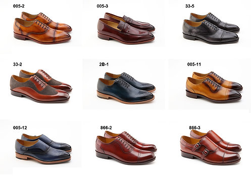 Hand Made Monk Strap Shoes (1 Pair) - DF