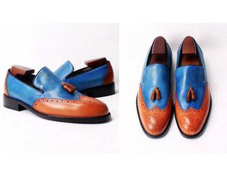 Two Tone Brogue Loafer LF19