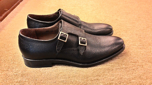 Pebble Grain Calf Double Monk Strap // 45