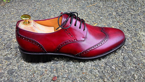 Burgundy Wingtip Brogue Derby // US 11