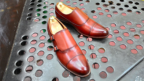 Brown Calf Double Monk Strap