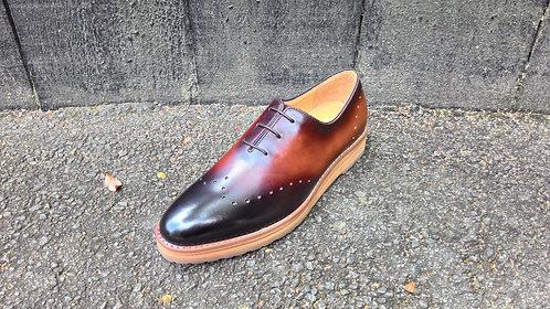 Dark Brown Wholecut Shoe // US 10