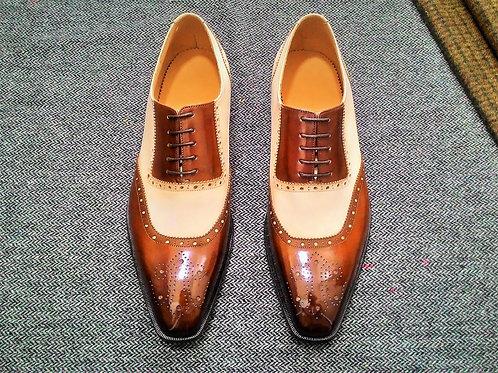 Two Tone U-tip Oxford Shoe OX41