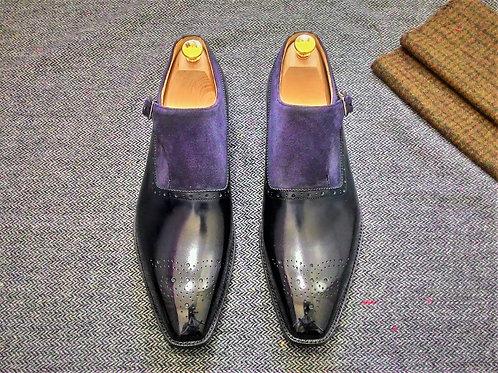 Two Tone Monk Strap Shoe SB31