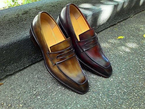 Hand Painted and Goodyear Welted Loafer