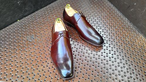 Dark Brown Calf Derby Shoes