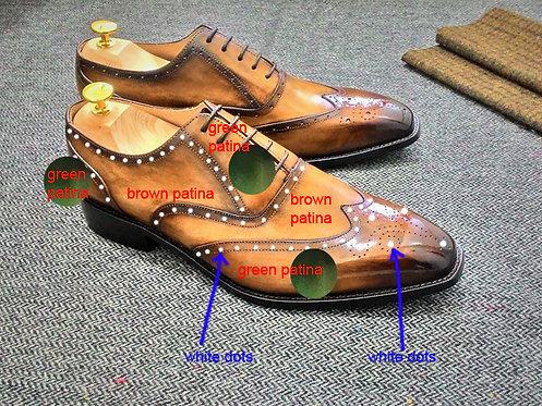 MTO (Two Tone Wingtip Brogue Oxford Shoe WB17A) - AA
